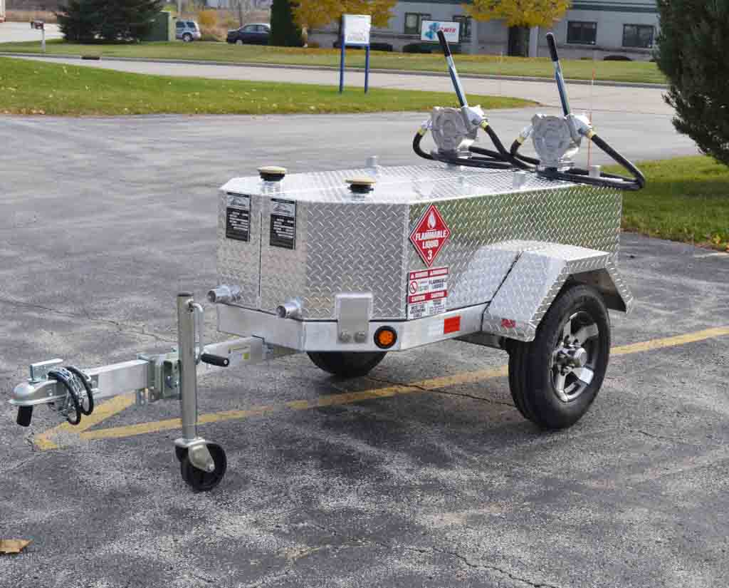 Split Fuel Tank Fuel Trailer