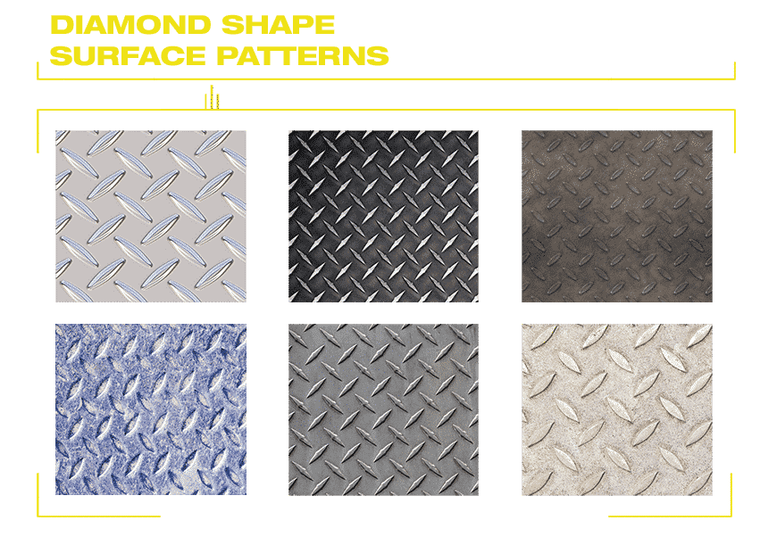 Diamond Shape Surface Patterns