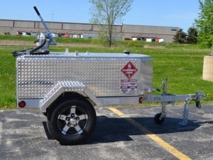 Diamond Plate Fuel Trailer