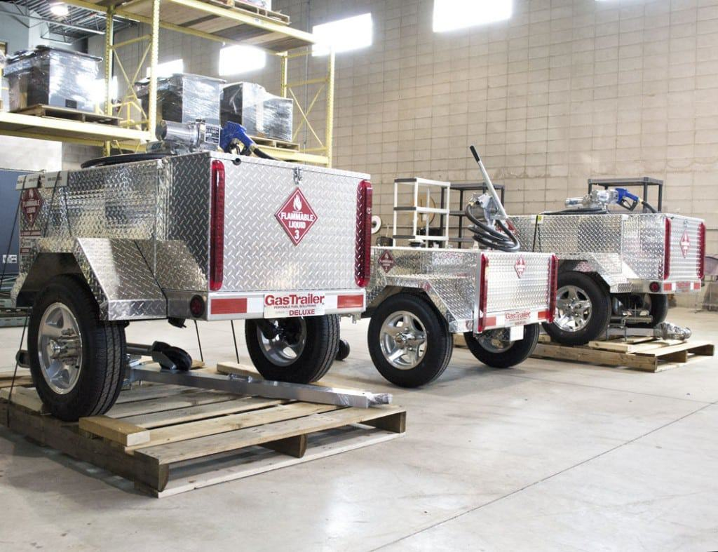 Three Different Gas Trailers