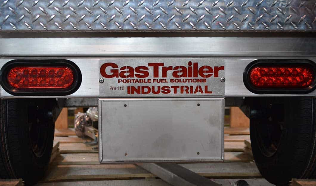 Gas Trailer License Plate Holder