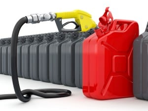 Multiple Gas Cans
